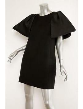 Giambattista Valli Black Wool Oversized Bow Shift Pocket Dress L 10 46 $2195 by Ebay Seller