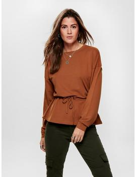 Sweatshirt With A Peplum Waist by Only