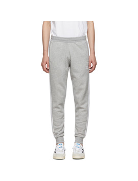 Grey 3 Stripes Lounge Pants by Adidas Originals
