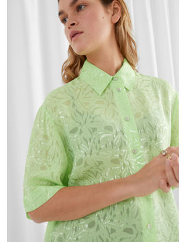 Relaxed Marble Jacquard Blouse by & Other Stories