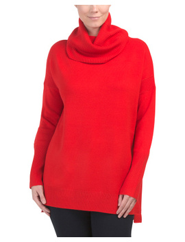 Baby Soft Step Hem Cowl Neck Sweater by Tj Maxx