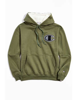 Champion Super Fleece Sherpa Lined Hoodie Sweatshirt  by Champion