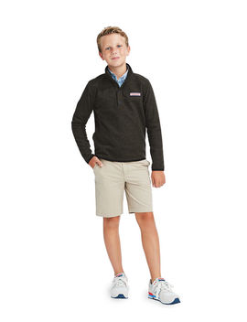 Boys Snap Placket Fleece Shep Shirt by Vineyard Vines