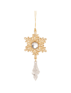 Gold Jewelled Snowflake Droplet by The Range