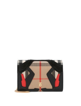 Vintage Check Canvas Clutch by Burberry