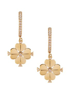 Legacy Logo Spade Flower Huggie Earrings by Kate Spade New York