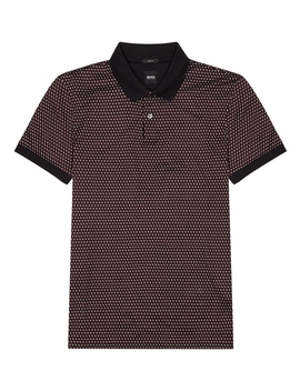 Printed Cotton Polo Shirt by Boss