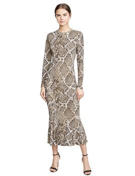 Long Sleeve Crew Fishtail Dress by Norma Kamali