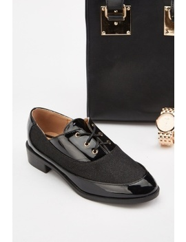Lurex Panel Oxford Shoes by Everything5 Pounds
