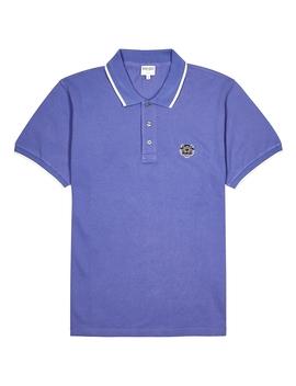 Purple Piqué Cotton Polo Shirt by Kenzo