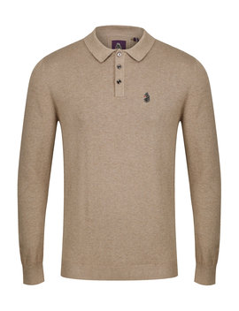 Magnesium Knitted Polo Mrl Oatmeal by Luke 1977