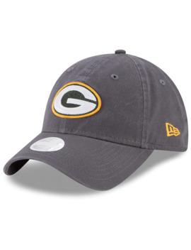 Women's New Era Graphite Green Bay Packers Core Classic 9 Twenty Adjustable Hat by New Era