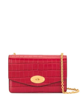 Small Darley Shiny Crocodile Effect Bag by Mulberry