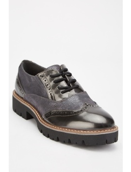 Metallic Textured Brogue Shoes by Everything5 Pounds