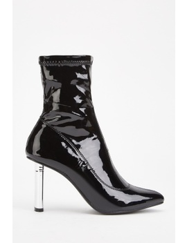 Pvc Heeled Ankle Boots by Everything5 Pounds