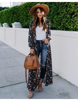 All Is Well Floral Duster Kimono by Vici
