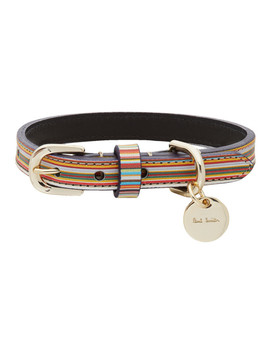 Multicolor Signature Stripe Dog Collar by Paul Smith