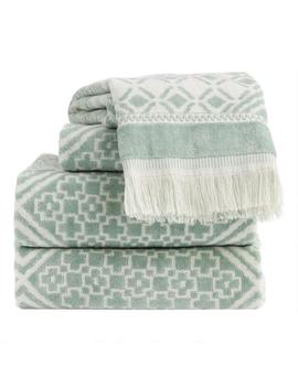 Chinois Green And White Alhambra Towel Collection by World Market