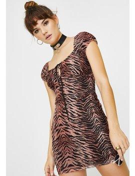 Black Leopard Gala Dress by Motel