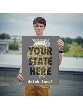 Drink Local   State Beer Posters   Various Sizes by Etsy