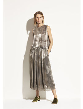 Iridescent Pleated Culotte by Vince