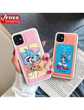 Cute Cartoon Tom And Jerry Tpu Soft Phone Case Cover For I Phone 11 7 8 Xr Xs Max by Unbranded/Generic