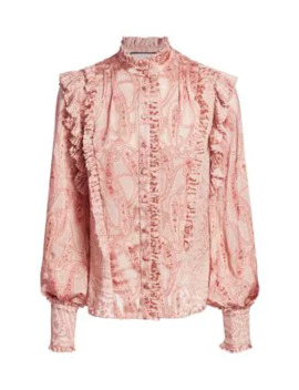 Eline Tonal Paisley Top by Alexis