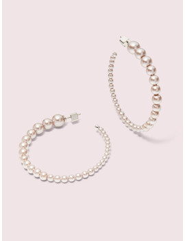 Modern Pearls Hoops by Kate Spade