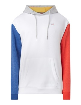 Hoodie Met Colour Blocking En Fleece Voering  by Tommy Hilfiger