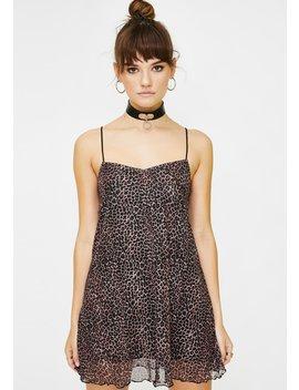 Leopard Sanita Babydoll Dress by Motel