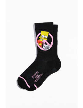 Bart Simpson Peace Crew Sock by Urban Outfitters