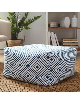 Mo Drn Diamond Woven Floor Pouf by Mo Drn