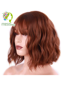 Miss Wig Short Water Wave Synthetic Hair 8 Colors Available Wig For Women Heat Resistant Fiber Daily False Hair by Ali Express.Com