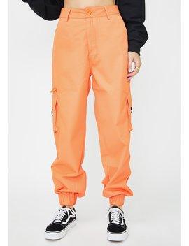 Orange Matira Cargo Pants by Nana Judy