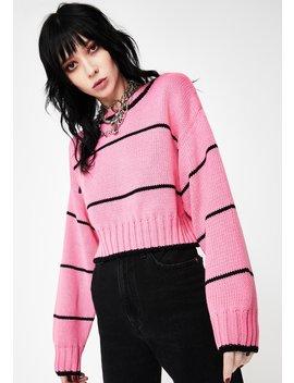Pink Ella Cropped Sweater by Neema