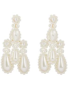 Faux Pearl Chandelier Earrings by Simone Rocha