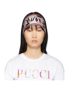 Multicolor Silk Printed Long Scarf Headband by Emilio Pucci