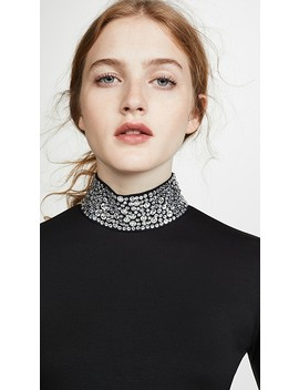 Mya Embellished Mock Neck Top by L'agence