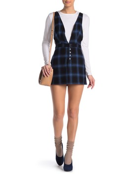 Plaid Overall Dress by Wild Honey