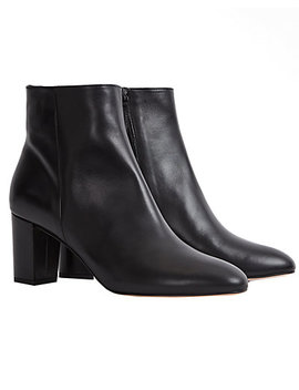 Reiss Florens Leather Bootie by Reiss