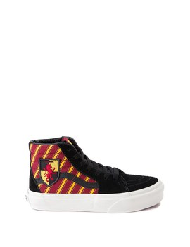 Vans X Harry Potter Sk8 Hi Gryffindor Skate Shoe   Little Kid / Big Kid   Black / Scarlet / Gold by Vans