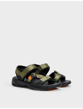 Kombinierte Sandale Für Herren Aus Funktionsstoff by Bershka