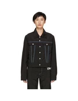 Black Nylon Airbag Jacket by Kanghyuk