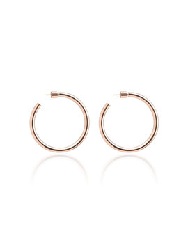 Baby Classic 14 K Rose Gold Plated Hoop Earrings by Jennifer Fisher