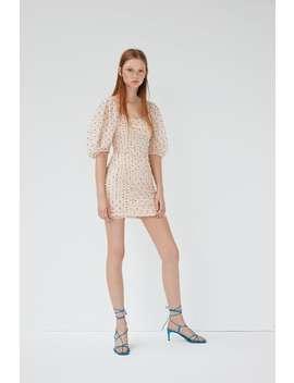 Drapiertes Kleid Mit Punkten Und TÜll by Zara
