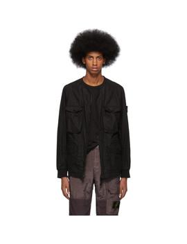 Black Ghost 50 Fili Resinata Jacket by Stone Island