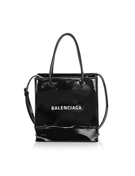 Extra Extra Small Patent Leather Shopper by Balenciaga