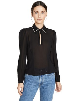 Embellished Collar Blouse by Fleur Du Mal