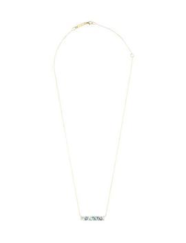 Gold Blue Topaz Baguette Bar Pendant Necklace by Suzanne Kalan