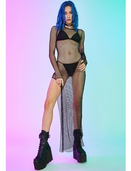 Hardcore Herstory Fishnet Dress by Current Mood